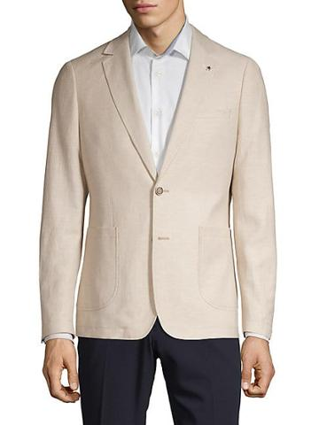 Nhp Notch Lapel Linen Blend Blazer