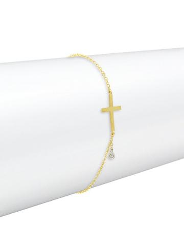 Meira T 14k Yellow Gold & Diamond Bracelet