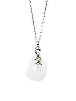 Tara Pearls White Baroque Pearl