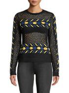 Valentino Open Knit Sweater