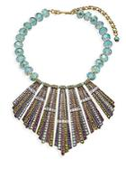 Heidi Daus Sun Palace Crystal Beaded Statement Necklace