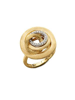 Marco Bicego Jaipur Link Diamond & 18k Yellow Gold Ring
