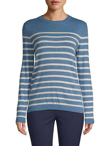 Saks Fifth Avenue Black Placed Striped Sweater