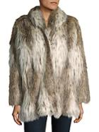 Donna Salyers' Fabulous-furs Russian Lynx Faux Fur Coat