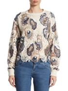 See By Chlo Embroidered Lace Cotton Pullover