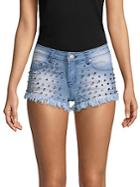 Saks Fifth Avenue Off 5th Studded Denim Shorts