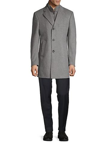 Saks Fifth Avenue Made In Italy Car Wool & Cashmere Coat