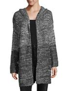 Ppla Hooded Open Front Cardigan