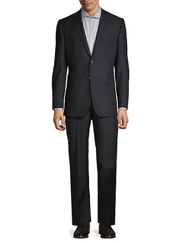Saks Fifth Avenue Made In Italy Tonal Stripe Wool Suit