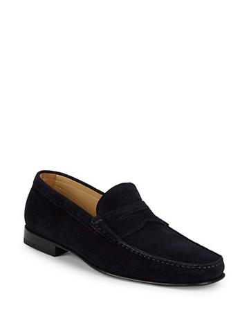 Saks Fifth Avenue Made In Italy Suede Loafers