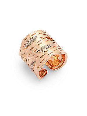 Michael Aram Diamonds & 18k Rose Gold Ring