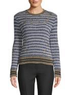 Valentino Striped Metallic Sweater