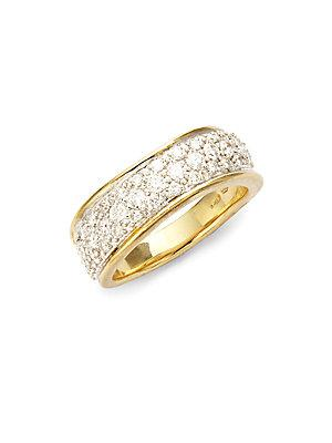 Marco Bicego Hand-engraved 18k Gold And Diamond Ring