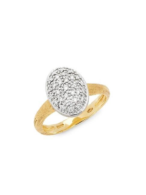 Marco Bicego 18k White And Yellow Gold Diamond Pendant Ring