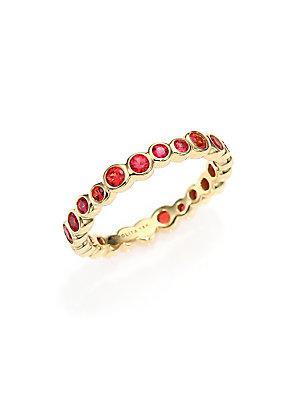 Ippolita Glamazon Starlet Orange Sapphire & 18k Yellow Gold Band Ring