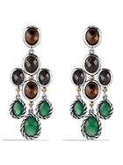 David Yurman Viridian Chandelier Earrings With Green Onyx