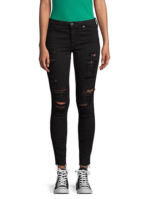 Ag Distressed Dark Jeans
