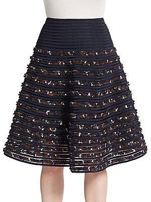 Oscar De La Renta Knit Aline Skirt