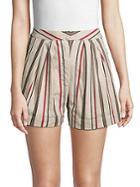 J.o.a. Striped Cotton Shorts