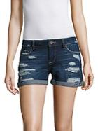 Paige Distressed Denim Shorts