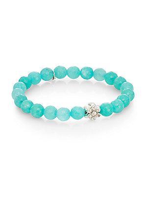Anzie Boheme Aqua Jade & Sterling Silver Bracelet