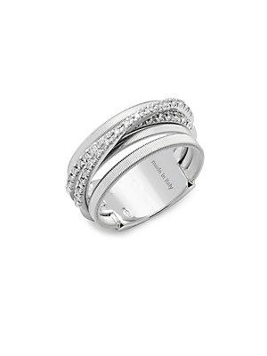 Marco Bicego Diamond & 18k White Gold Ring