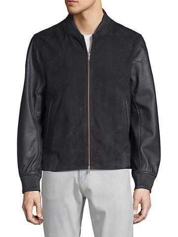 Saks Fifth Avenue Leather Bomber Jacket