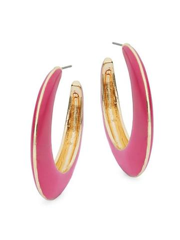 Ava & Aiden Goldtone Open Hoop Earrings