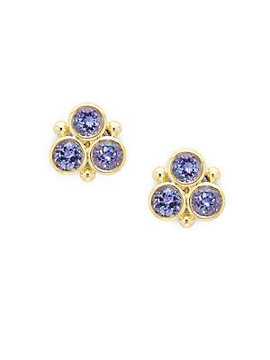 Temple St. Clair Tanzanite & 18k Yellow Gold Stud Earrings