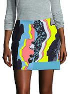 Versace Printed Block Skirt