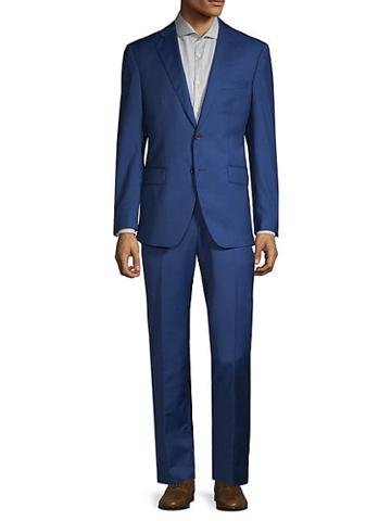 Saks Fifth Avenue Made In Italy Classic Wool & Silk Suit