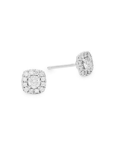 Diana M Jewels 18k White Gold & Diamond Stud Earrings