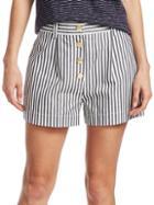Derek Lam Striped Cotton Shorts