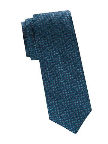 Saks Fifth Avenue Made In Italy Mosaic Print Silk Tie