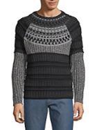 Valentino Colorblock Long-sleeve Sweater