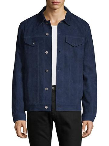 Saks Fifth Avenue Suede Trucker Jacket