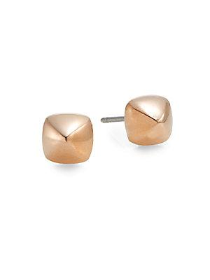 Rebecca Minkoff Pyramid Stud Earrings/rose Goldtone