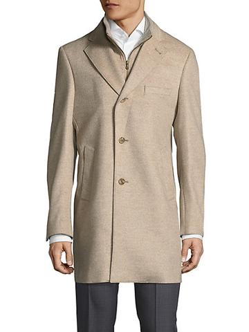 Saks Fifth Avenue Made In Italy Modern Id Wool Top Coat