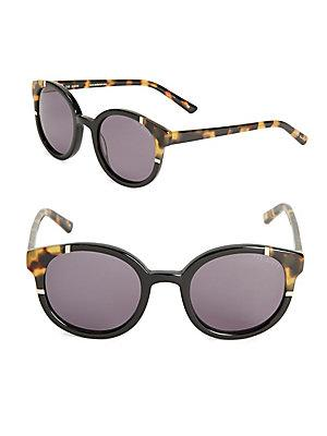 Ted Baker London 49mm Round Tortoiseshell Sunglasses