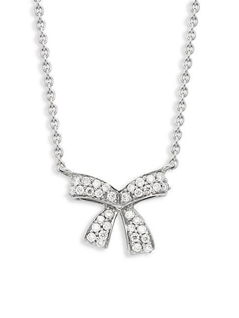 Hueb 18k White Gold & Diamond Pendant Necklace