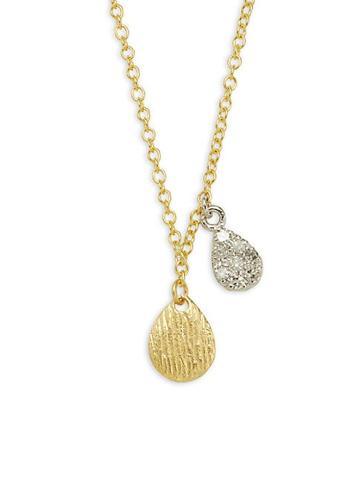 Meira T Two-tone 14k Gold & Diamond Pendant Necklace