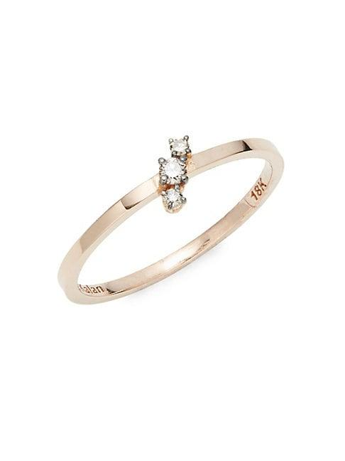 Suzanne Kalan 18k Rose Gold & Champagne Diamond Cocktail Ring