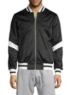 American Stitch Striped Full-zip Bomber Jacket