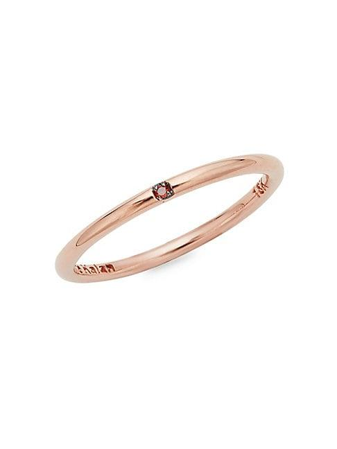Suzanne Kalan 18k Rose Gold & Red Diamond Ring
