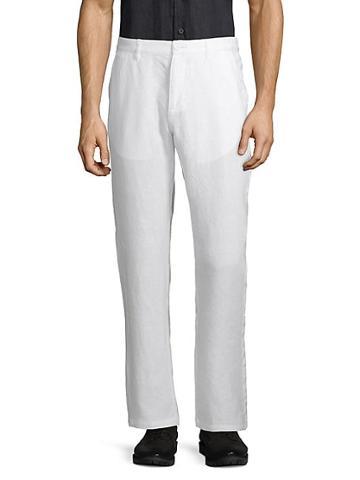 Saks Fifth Avenue Straight Linen Pants