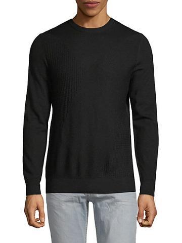 Pure Navy Geometric Crewneck Sweater