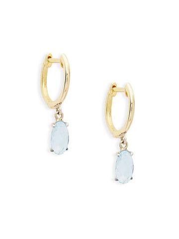 Meira T 14k Yellow Gold & Blue Topaz Earrings