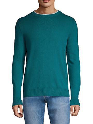 Saks Fifth Avenue Cotton & Cashmere-blend Crewneck Sweater