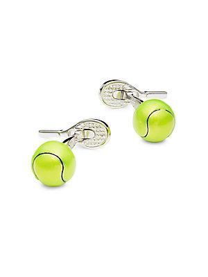 Jan Leslie Tennis Ball Cuff Links