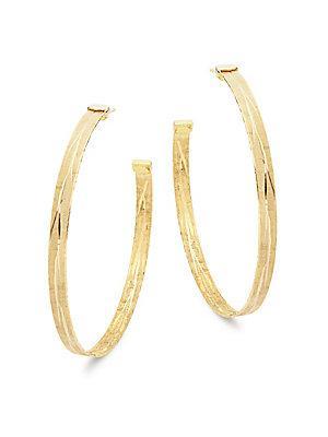 Roberto Coin Gold Hoop Earrings/ 3.75